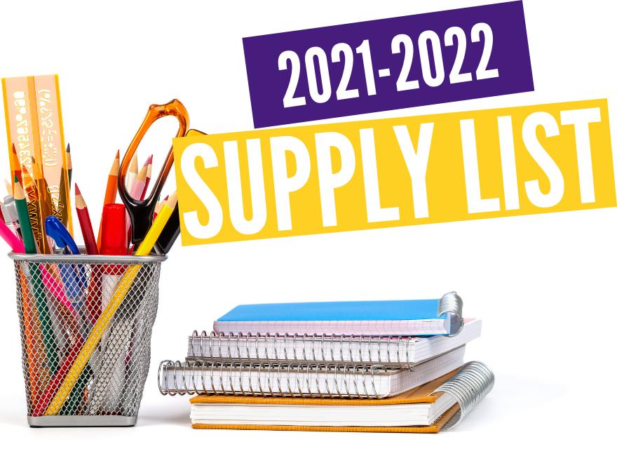 2021-2022 School Supply List
